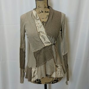 Anthropology Tiny cute patchwork cardigan
